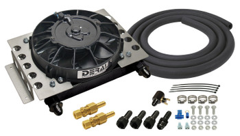 6AN Inlet Size Derale 13750 15 Row Atomic Cool Plate /& Fin Remote Cooler Kit