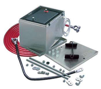 """Taylor 48100 Battery Box Aluminum With Hold Down Components 13.5/""""X9.5/""""x10/"""" Size"""