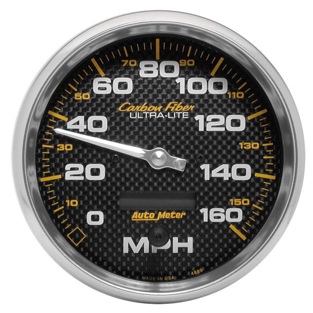 AutoMeter 4889 Carbon Fiber In-Dash Electric Speedometer