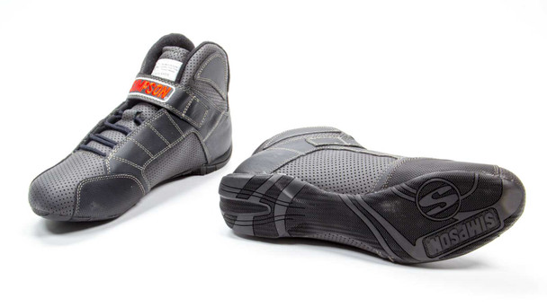 SIMPSON SAFETY Size 9 Black Red Line Driving Shoes P/N RL900K
