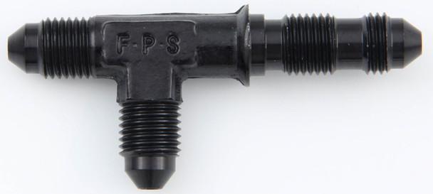 FRAGOLA 3 AN Male Black Aluminum Bulkhead Tee P/N 480403-BL