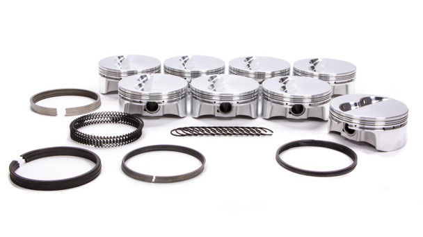 BULLET PISTONS 4.155 in Bore Forged Piston SBC Kit P/N BC1110-030-8