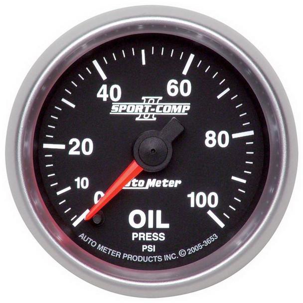 AutoMeter 3653 Sport-Comp II Electric Oil Pressure Gauge