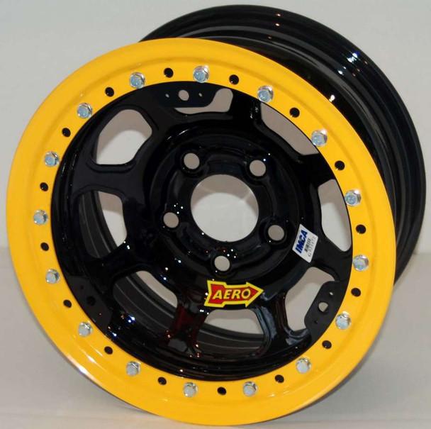 AERO RACE WHEELS 53-Series 15x10 in 5x5.00 Black Wheel P/N 53-105020
