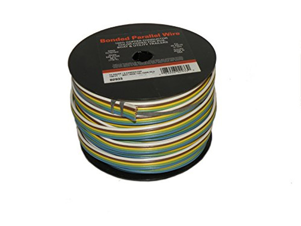5-Wire Bonded Parallel - Brown/Green/White/Yellow/Blue - 100 Foot - 14 Gauge
