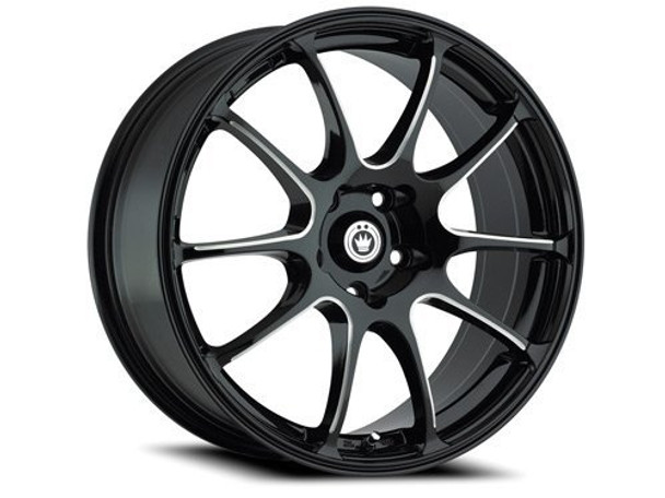 17 Inch 17x7 Konig wheels Illusion Black/Ball Cut Machine wheels rims