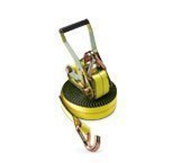 2 x 25' Yellow Ratchet Strap w/ Wire Hooks
