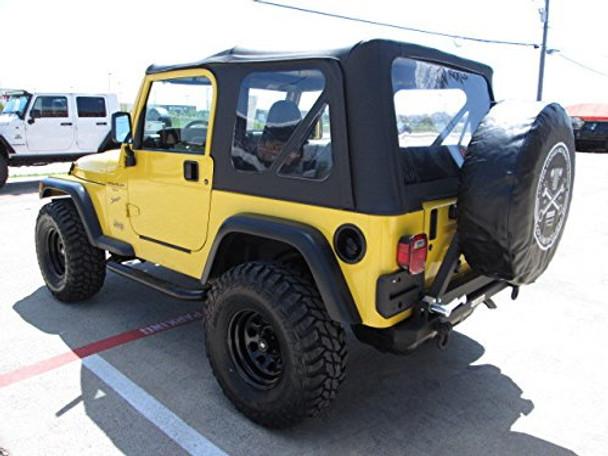 1997-2006 Fits Jeep Wrangler TJ/LJ Rear Rock Bumper With Swing Away Tire Carrier No Hitch