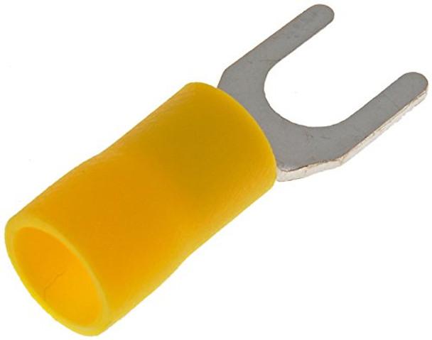 12-10 Gauge Spade Terminal, No. 10, Yellow - Dorman# 85421