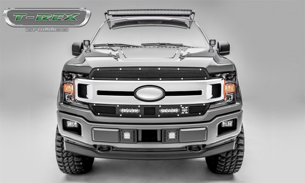 T-Rex Grilles 6315691 Torch Series LED Light Grille Fits 18-19 F-150