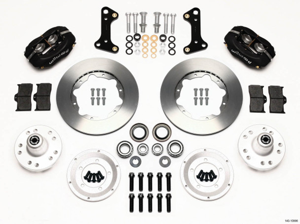 WILWOOD Dynalite 4 Piston Front Brake System GM A/F/X-Body 1964-74 P/N 140-10996