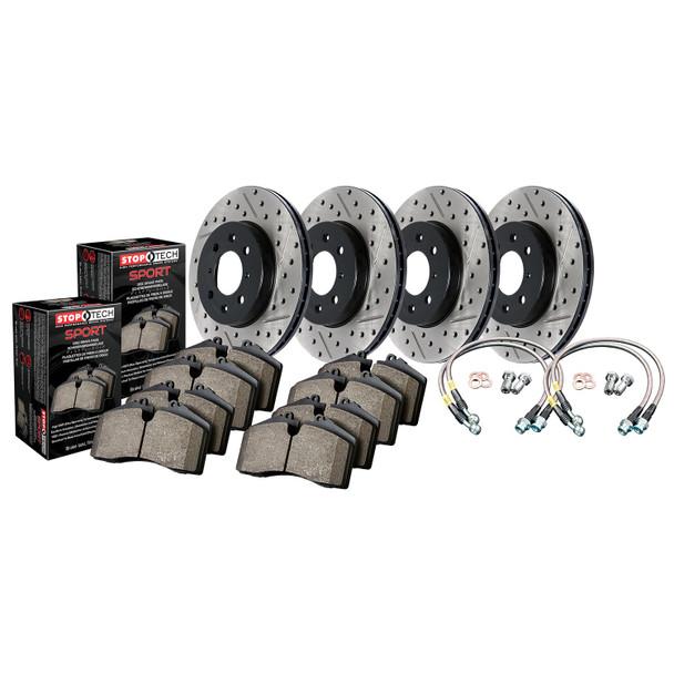 StopTech 978.40008 StopTech Sport Brake Kit Fits 07-11 Civic