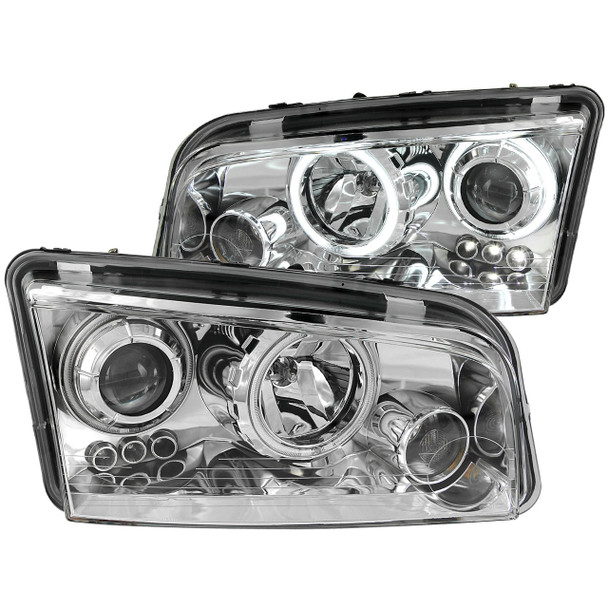 Anzo USA 121217 Projector Headlight Set w/Halo Fits 06-10 Charger