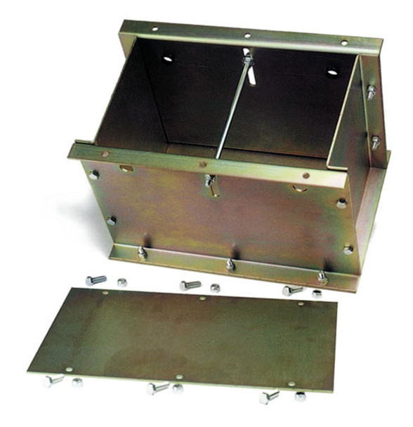 COMPETITION ENGINEERING 12-3/8 x 9-3/4 x 10 in Steel Battery Box P/N 4029
