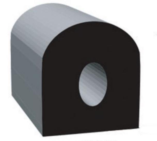.500 X .500 D, Epdm, Black