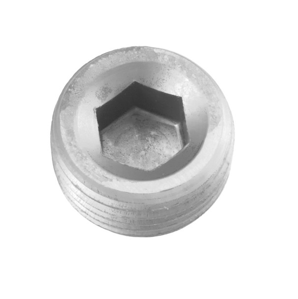 -06 (3/8) NPT socket head pipe plug - clear - 2/pkg