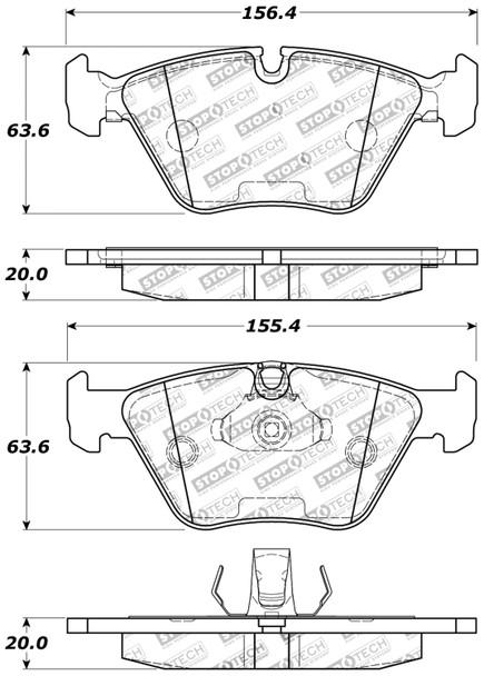StopTech 309.09460 StopTech Sport Brake Pads Fits 01-10 330Ci 330i 330xi X3 Z4