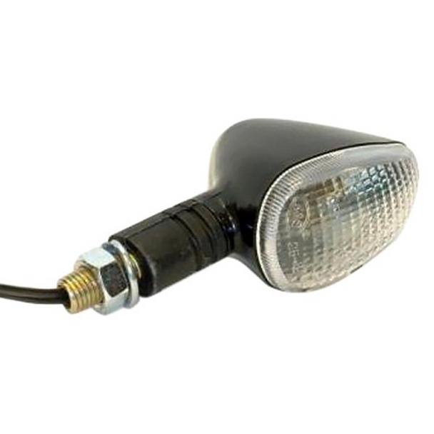 K&S Marker Lights, Cmpct, Flex. Stem, Blk (D/F) Clear, Short Stem Pn 25-8408S