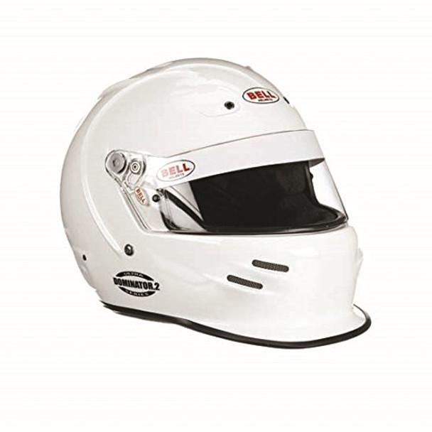 BELL HELMETS 7-1/4 White Ultra Series Dominator.2 Helmet P/N 2153034