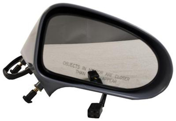 Right Hand Door Mirror Smooth Black Power Non-Folding Non-Heated (P) Fits