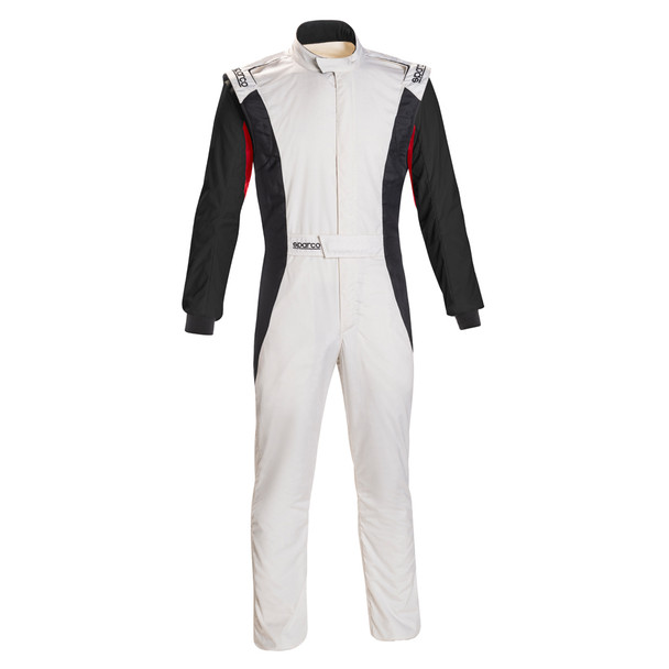 Sparco Comp Suit White/Black Medium P/N 001128Sfb52Binr