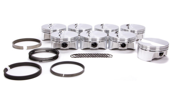 BULLET PISTONS 4.125 in Bore Forged Piston SBC Kit P/N BC1100-STD-8