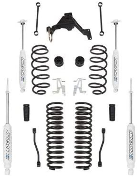 Pro Comp Suspension Pro Comp Suspension K3089BRH Lift Kit 4 in. Lift w/Front/Rear Lift Coil Springs Front Sway Bar Links