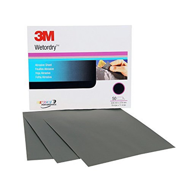 """3M 02035 Imperial Wetordry 9"""" x 11"""" P800A Grit Sheet, (50 Sheets per Sleeve)"""