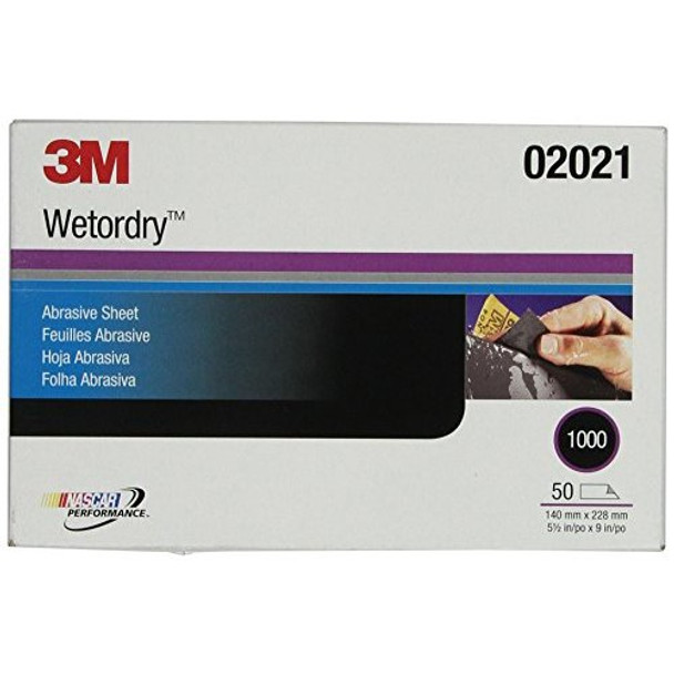 """3M 02021 Imperial Wetordry 5-1/2"""" x 9"""" 1000A Grit Sheet"""