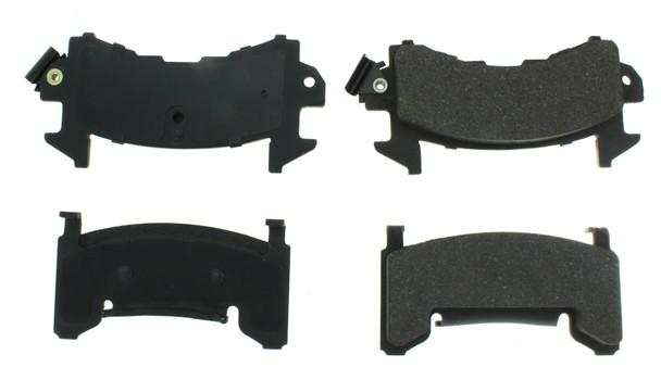 CENTRIC BRAKE PARTS C-TEK Semi-Metallic Brak e Pads with Shims PN 102.0202