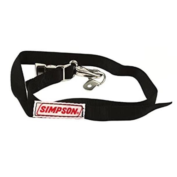 Simpson Racing 36007BK Black SFI Approved Helmet Restraint