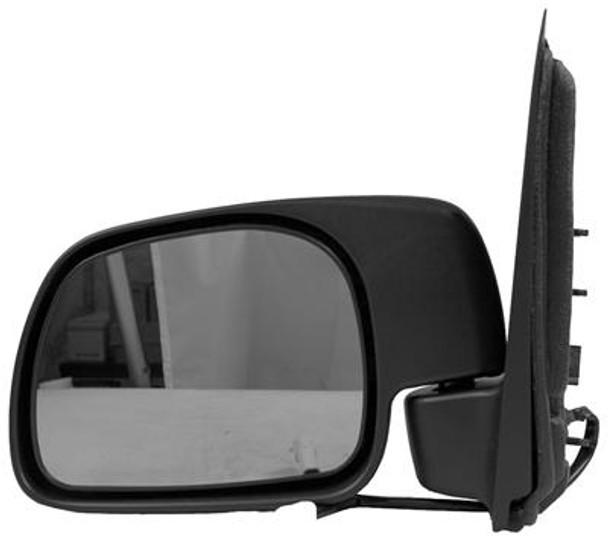 Left Hand Door Mirror Power Non-Heated Text Black Fldg Paddle Type F-Series Superdufits Toyota P/U 99-05