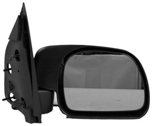 Right Hand Door Mirror Power Non-Heated Text Black Fldg Paddle Type F-Series Superdufits Toyota P/U 99-05