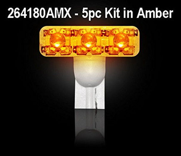 194 1w LED Bulbs 5pc KIT - AMBER (Replaces Factory Ford SUPERDUTY 99-14 Cab Lig