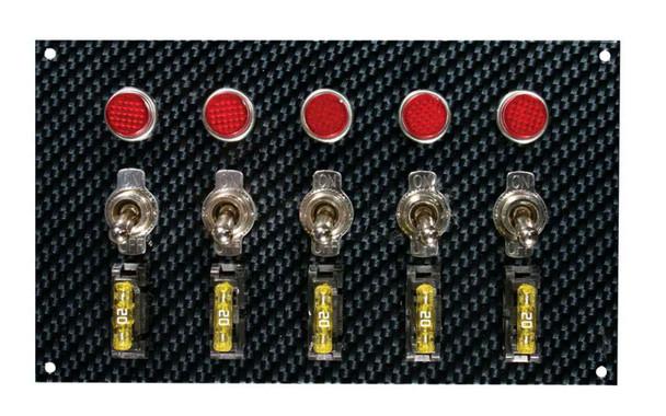 Moroso Dash Mount Switch Panel 6-3/4 x 4 in Carbon Fiber Look P/N 74148