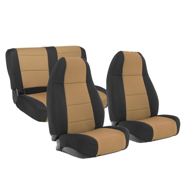 Smittybilt 471025 Neoprene Seat Cover Fits 76-90 CJ5 CJ7 Scrambler Wrangler