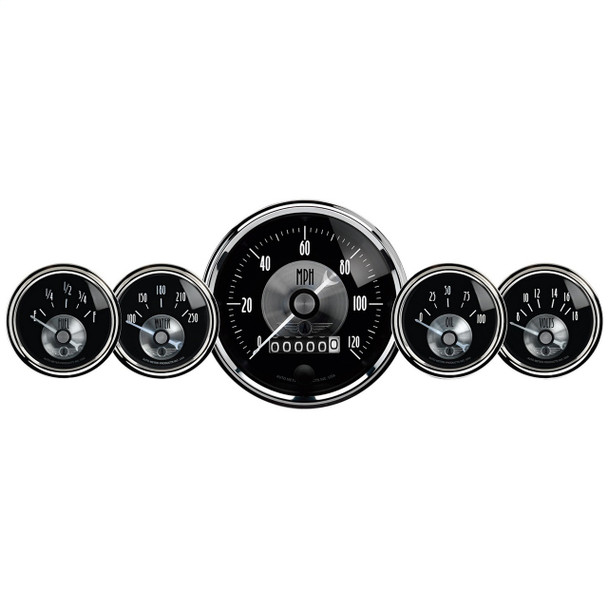 AutoMeter 2003 Prestige Series Black Diamond Gauge Kit