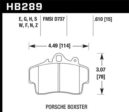 hawk performance hb289w 610 disc brake pad fits 97