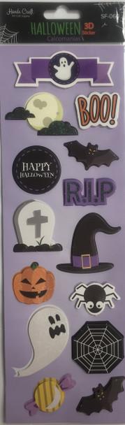 Boo Halloween Sticker 3D