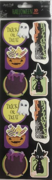 Halloween Sticker 3D