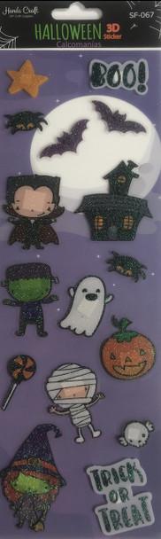 Boo Halloween 3D Sticker