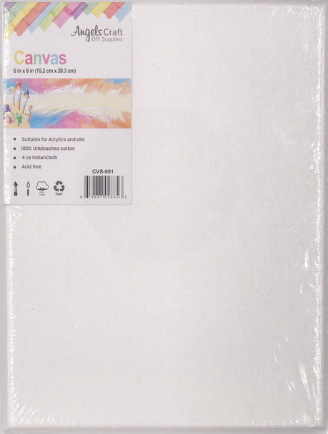 "CVS-001 Wrapped Canvas, 6"" x 8"", 1 ct"