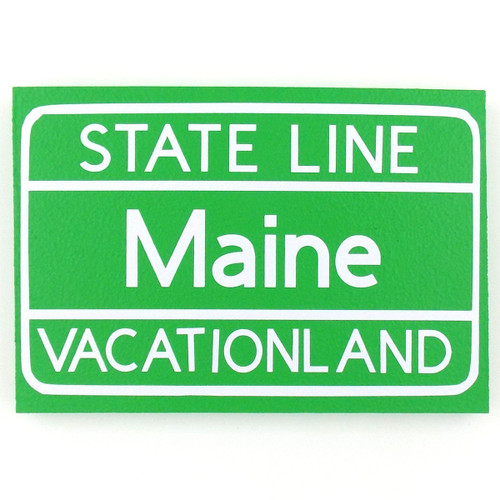State Line Maine Desktop Sign