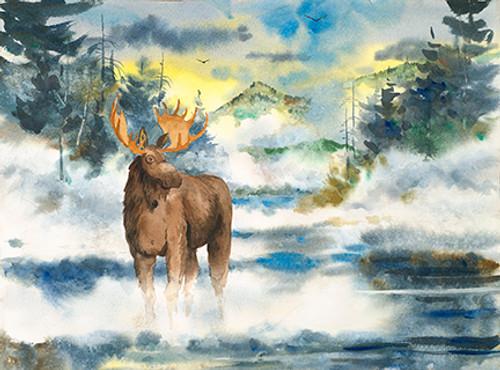 Misty Moose Print