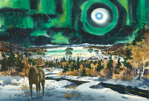 Moosehead Lake and Northern Lights