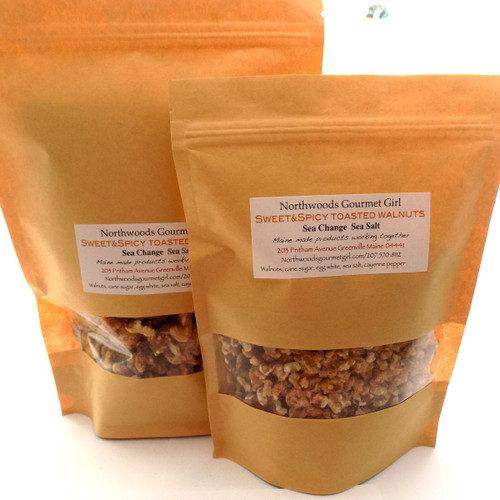 Sweet and Spicy Walnuts, 8 ounce