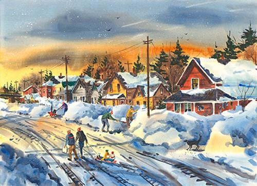 Depot Street in Winter
