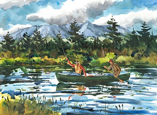 Fly Fishing from a Canoe