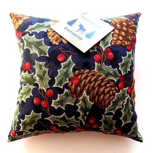 Cone and Holly Balsam Pillow, 5 inch