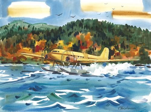 Folsom's DC3 on Moosehead Lake